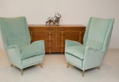 ISA Bergamo I S A Italy Pair of Mid Century Modern armchairs by ISA from a design by Gio Ponti  - 2037369