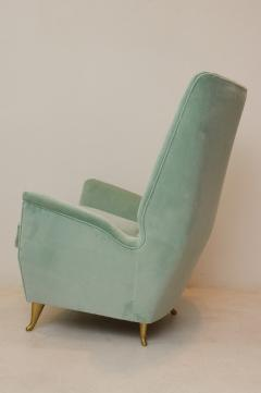ISA Bergamo I S A Italy Pair of Mid Century Modern armchairs by ISA from a design by Gio Ponti  - 2037375