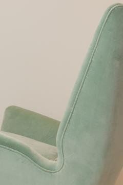 ISA Bergamo I S A Italy Pair of Mid Century Modern armchairs by ISA from a design by Gio Ponti  - 2037388