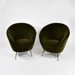 ISA Bergamo I S A Italy Pair of chic egg chairs - 1531682