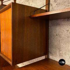 ISA Bergamo I S A Italy Wall teak bookcase by ISA Bergamo 1960s - 2102751