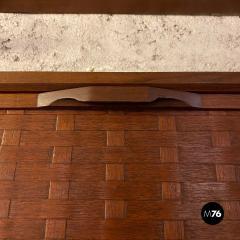 ISA Bergamo I S A Italy Wall teak bookcase by ISA Bergamo 1960s - 2102752