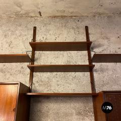 ISA Bergamo I S A Italy Wall teak bookcase by ISA Bergamo 1960s - 2102756