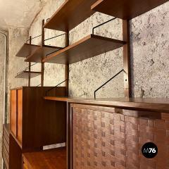 ISA Bergamo I S A Italy Wall teak bookcase by ISA Bergamo 1960s - 2102765