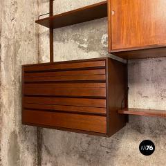 ISA Bergamo I S A Italy Wall teak bookcase by ISA Bergamo 1960s - 2102766