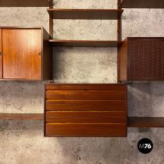 ISA Bergamo I S A Italy Wall teak bookcase by ISA Bergamo 1960s - 2102767