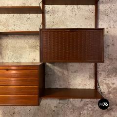 ISA Bergamo I S A Italy Wall teak bookcase by ISA Bergamo 1960s - 2102768
