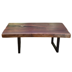 Ian Love Design Black Walnut Coffee Table With Hand Carved Ebonized Legs - 1526250