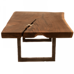 Ian Love Design Black Walnut Coffee Table With Hand Carved Ebonized Legs - 1527206