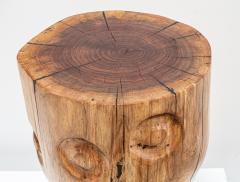 Ian Love Design Black Walnut Stool With Carved Nipple Design - 1820198