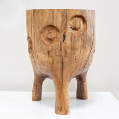 Ian Love Design Black Walnut Stool With Carved Nipple Design - 1820199