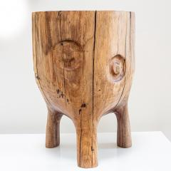 Ian Love Design Black Walnut Stool With Carved Nipple Design - 1820201