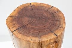 Ian Love Design Black Walnut Stool With Carved Nipple Design - 1820203