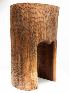 Ian Love Design Black Walnut Stool With Chattered Design - 1560126