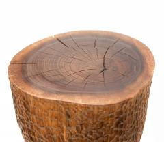 Ian Love Design Black Walnut Stool With Chattered Design - 1560130