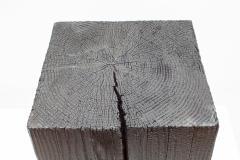 Ian Love Design Charred Pine Stool - 1820213
