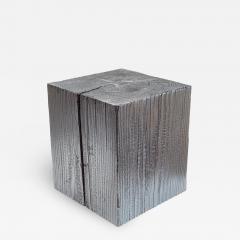 Ian Love Design Charred Pine Stool - 1821597
