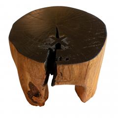 Ian Love Design Cherry Blossom Stool Side Table With Ebonized Top - 1504123