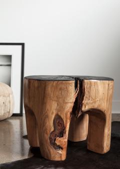Ian Love Design Cherry Blossom Stool Side Table With Ebonized Top - 1504124