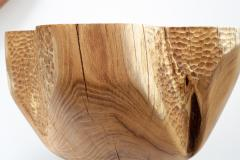 Ian Love Design Hand Carved Elm Side Table - 1672774