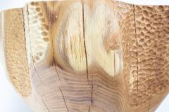 Ian Love Design Hand Carved Elm Side Table - 1672779