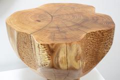 Ian Love Design Hand Carved Elm Side Table - 1672780