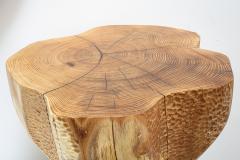 Ian Love Design Hand Carved Elm Side Table - 1672781