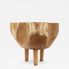 Ian Love Design Hand Carved Elm Side Table - 1673530