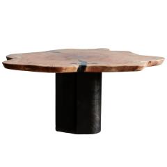 Ian Love Design Oak Coffee Table With Bent Wood Base - 1498532