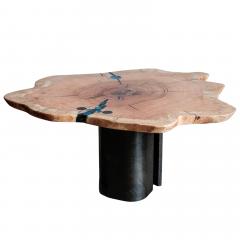 Ian Love Design Oak Coffee Table With Bent Wood Base - 1498535
