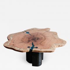 Ian Love Design Oak Coffee Table With Bent Wood Base - 1499066