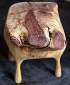 Ian Love Design Red Cedar Hand Carved Stool - 1504142
