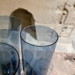 Iittala FINLAND Blue Tall Drink Tumbler Glasses Set of Four by Kaj Franck Iittala 1960s - 2088155