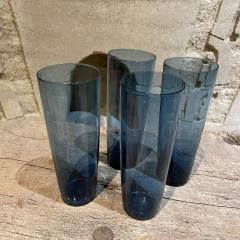 Iittala FINLAND Blue Tall Drink Tumbler Glasses Set of Four by Kaj Franck Iittala 1960s - 2088158