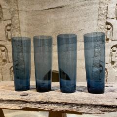 Iittala FINLAND Blue Tall Drink Tumbler Glasses Set of Four by Kaj Franck Iittala 1960s - 2088159