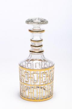 Imperial Glass Company Vintage Imperial Glass Co Shoji Decanter 22 Karat Gold 1960s - 1088867