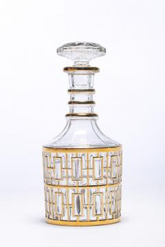 Imperial Glass Company Vintage Imperial Glass Co Shoji Decanter 22 Karat Gold 1960s - 1088873