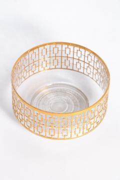 Imperial Glass Company Vintage Imperial Glass Co Shoji Large Hospitality Bowl 22 Karat Gold 1960s - 1088791