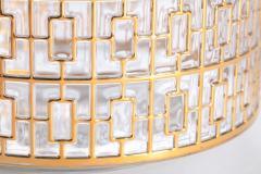 Imperial Glass Company Vintage Imperial Glass Co Shoji Large Hospitality Bowl 22 Karat Gold 1960s - 1088792