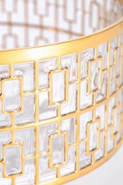 Imperial Glass Company Vintage Imperial Glass Co Shoji Large Hospitality Bowl 22 Karat Gold 1960s - 1088794