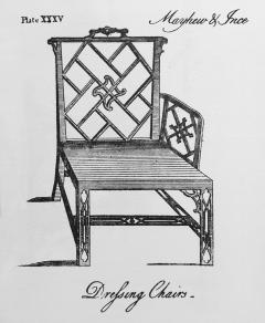 Ince Mayhew 18th Century Chinese Chippendale Cockpen Armchair Desk Chair - 926497