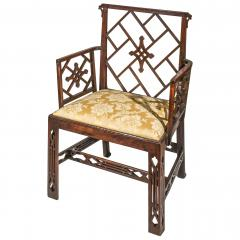 Ince Mayhew 18th Century Chinese Chippendale Cockpen Armchair Desk Chair - 926498