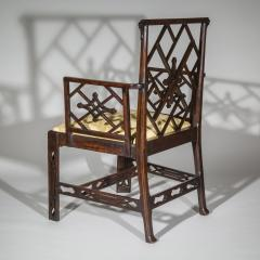 Ince Mayhew 18th Century Chinese Chippendale Cockpen Armchair Desk Chair - 926502