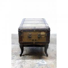 Indestructo Vintage Indestructo Trunk on Industrial Stand - 1079073