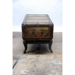Indestructo Vintage Indestructo Trunk on Industrial Stand - 1079074