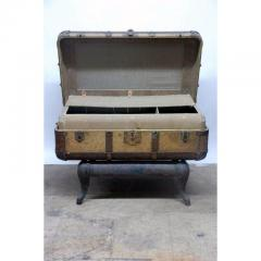 Indestructo Vintage Indestructo Trunk on Industrial Stand - 1079075