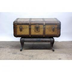 Indestructo Vintage Indestructo Trunk on Industrial Stand - 1079079