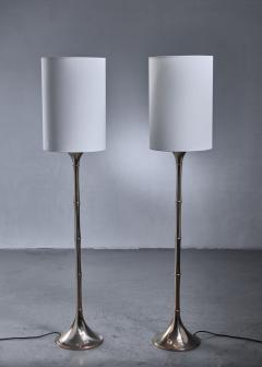Ingo Maurer Ingo Maurer Pair of Brass Bamboo Floor Lamps - 1392728