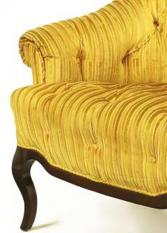 Interiors Crafts Elegant Pair of Interior Crafts Button Tufted Barrel Back Lounge Chairs - 899013