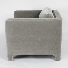 Interiors Crafts PAIR OF CLUB CHAIRS IN GRAY MOHAIR BY INTERIOR CRAFTS CIRCA 1980S - 733431